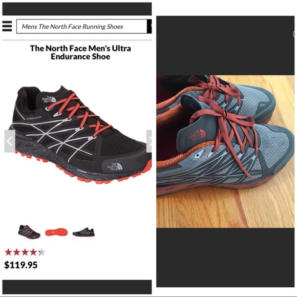 6aa1acabc North face men's shoes.Grey orange.Ultra endurance